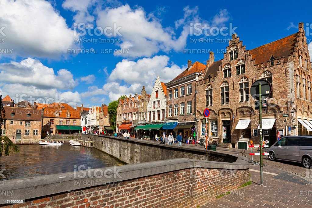 Medieval Architecture and Canals of Bruges. royalty-free stock photo