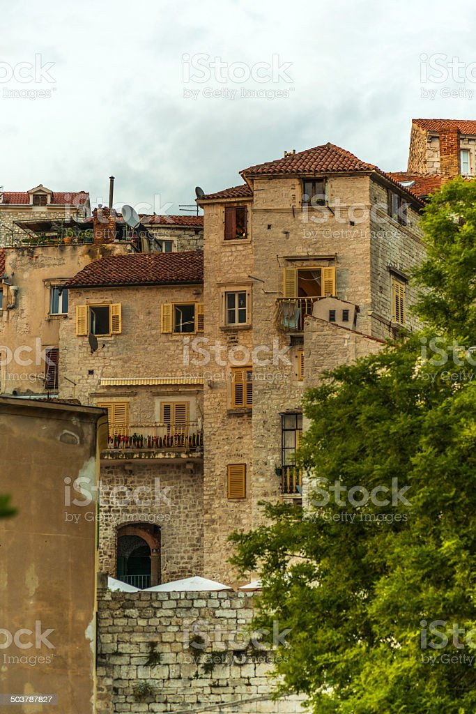 Medieval architecture of Šibenik, Croatia royalty-free stock photo