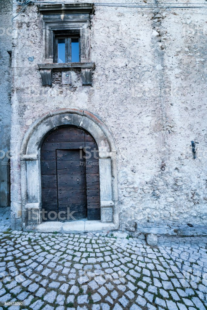 Medieval architecture stock photo