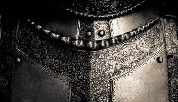 medieval armor detail - средневековье стоковые фото и изображения