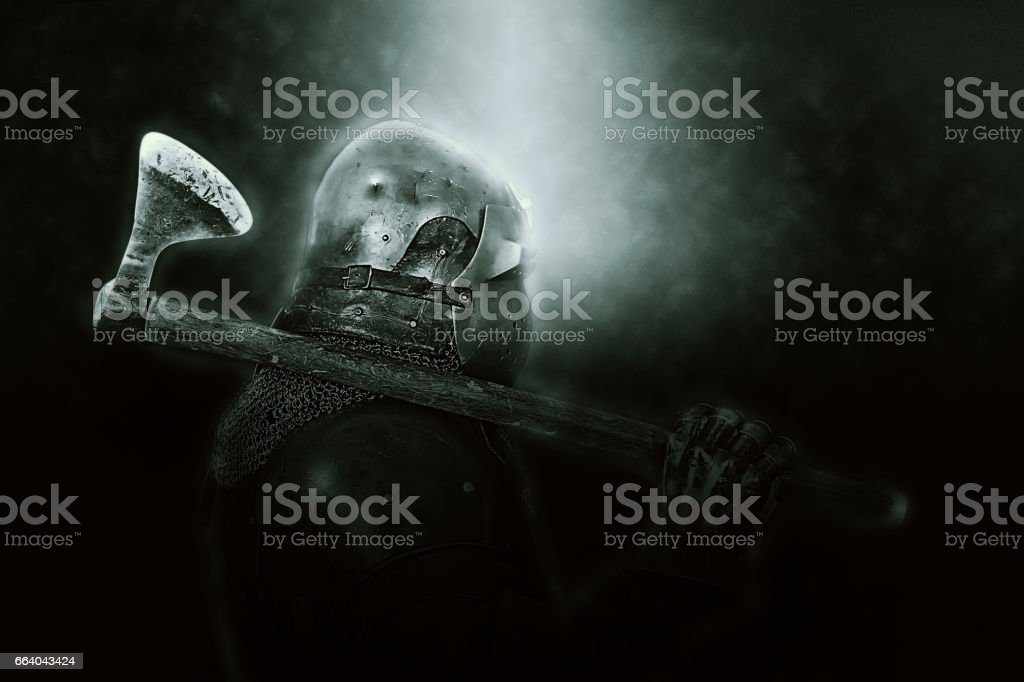 armadura medieval stock photo