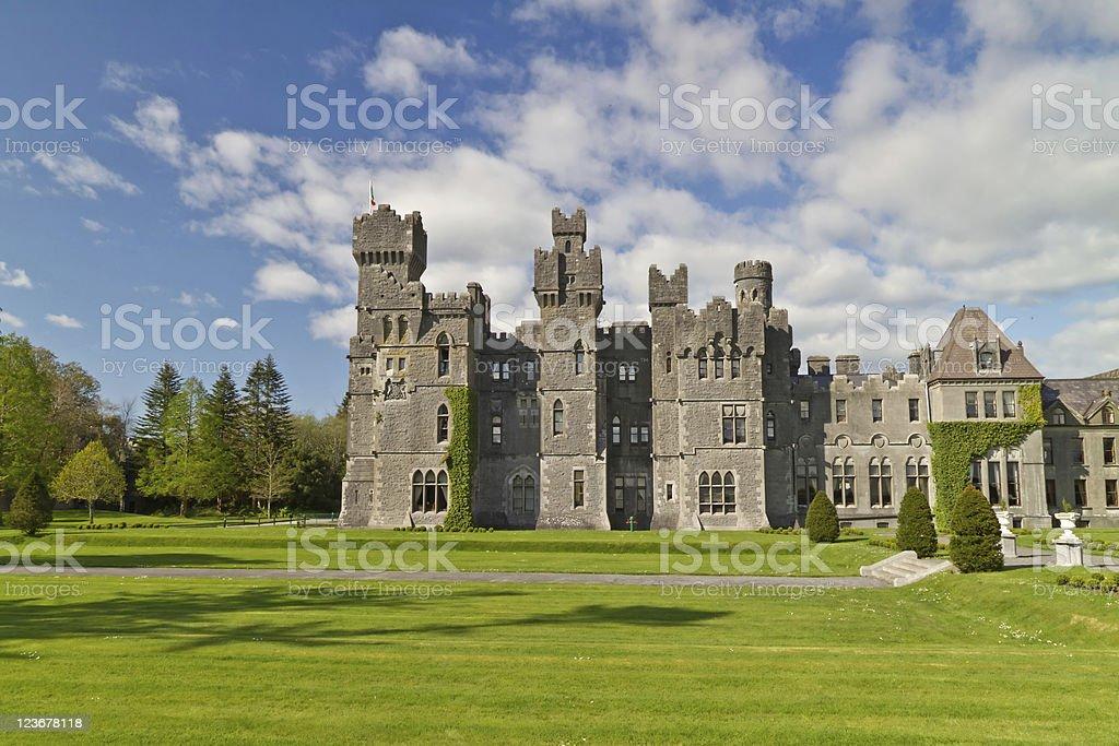 Medieval Ashford castle stock photo