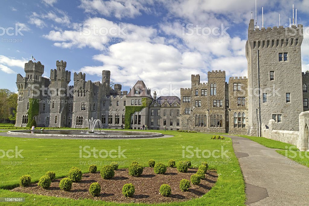 Medieval Ashford castle stock photo