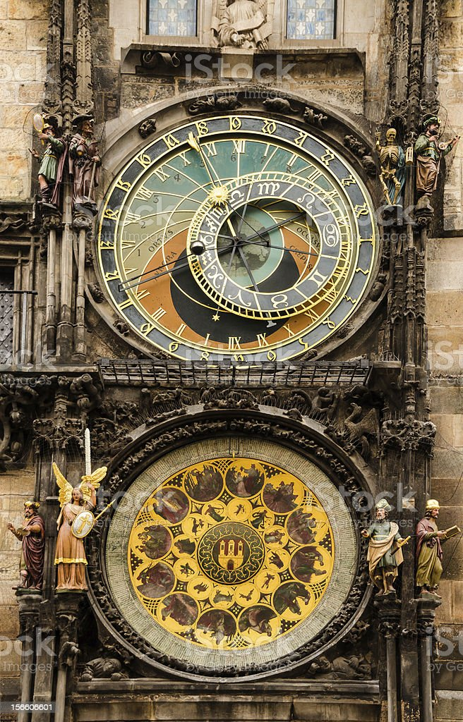 Medieval Astronomical Clock in Prague royalty-free stock photo