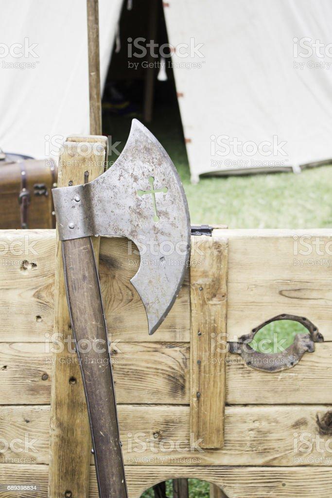 Medieval Axe stock photo