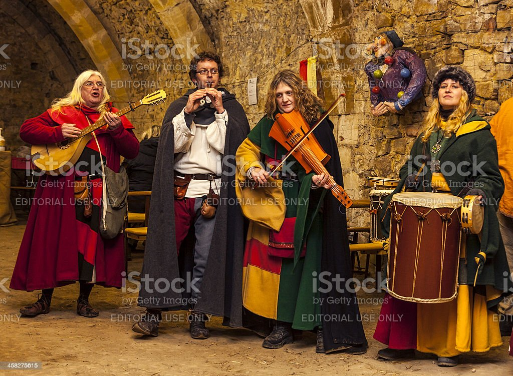 Medieval Band stock photo