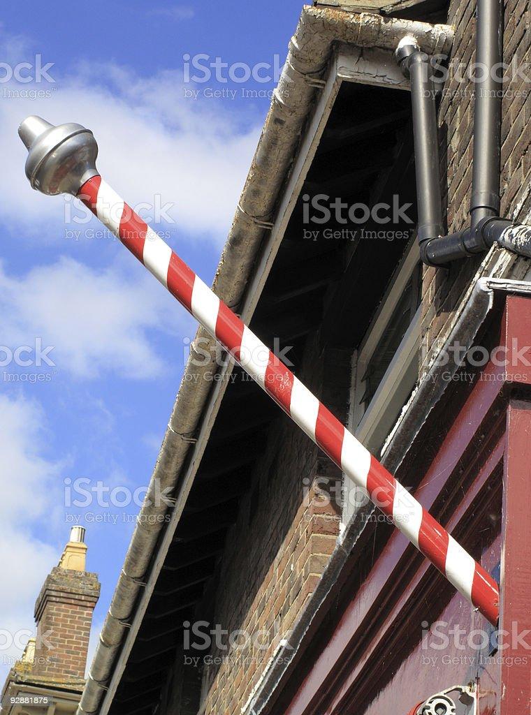 Medieval Barber's Pole stock photo