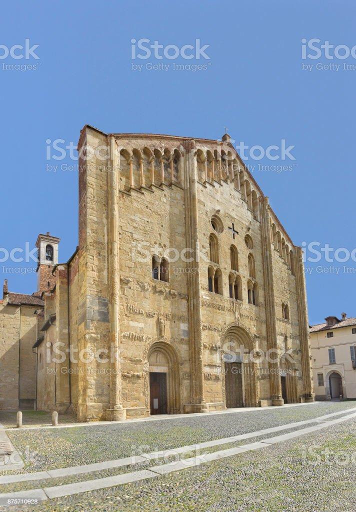 Medieval Basilica of San Michele Maggiore in Pavia, Italy stock photo