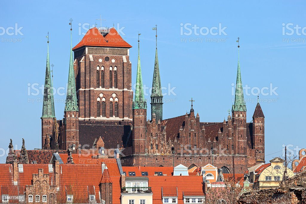 Medieval Basilica stock photo