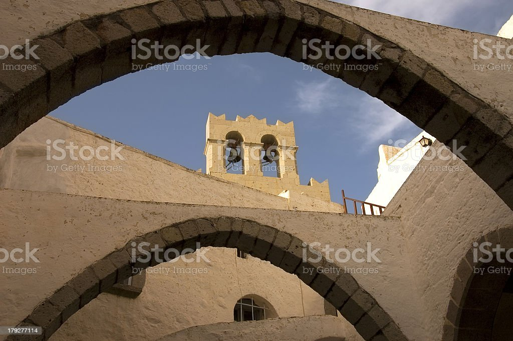 medieval Bell tower stock photo