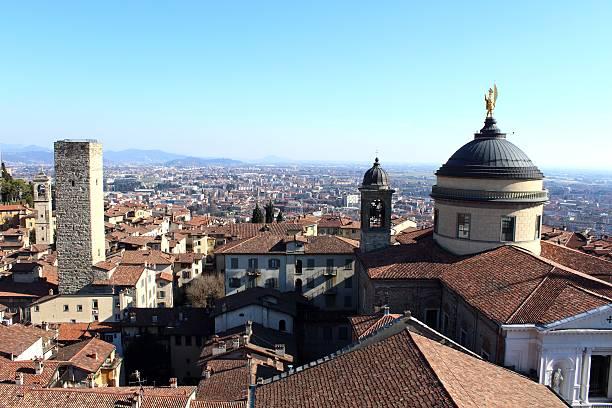 Medieval Bergamo stock photo