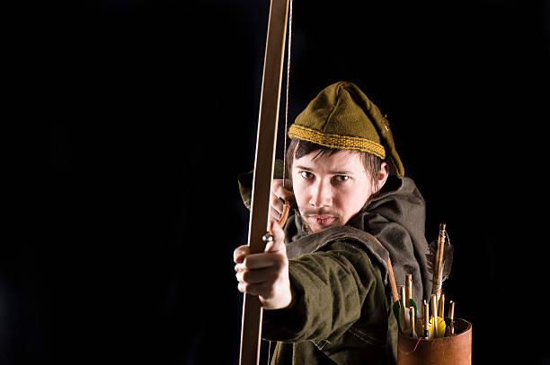 Medieval bowman stock photo