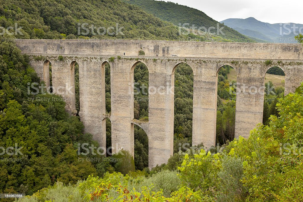 Medieval Bridge and Aqueduct stock photo