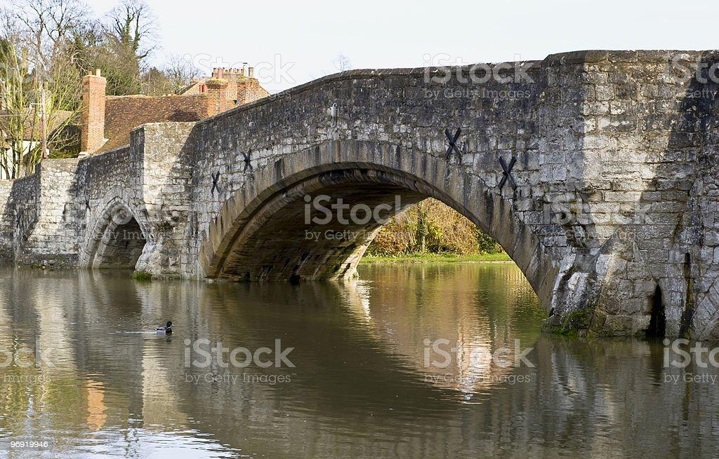 Medieval bridge at Aylesford royalty-free stock photo