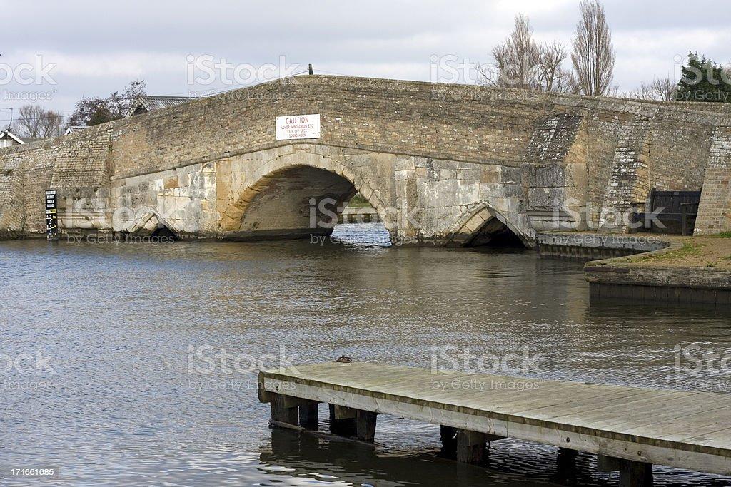 Medieval bridge at Potter Heigham stock photo