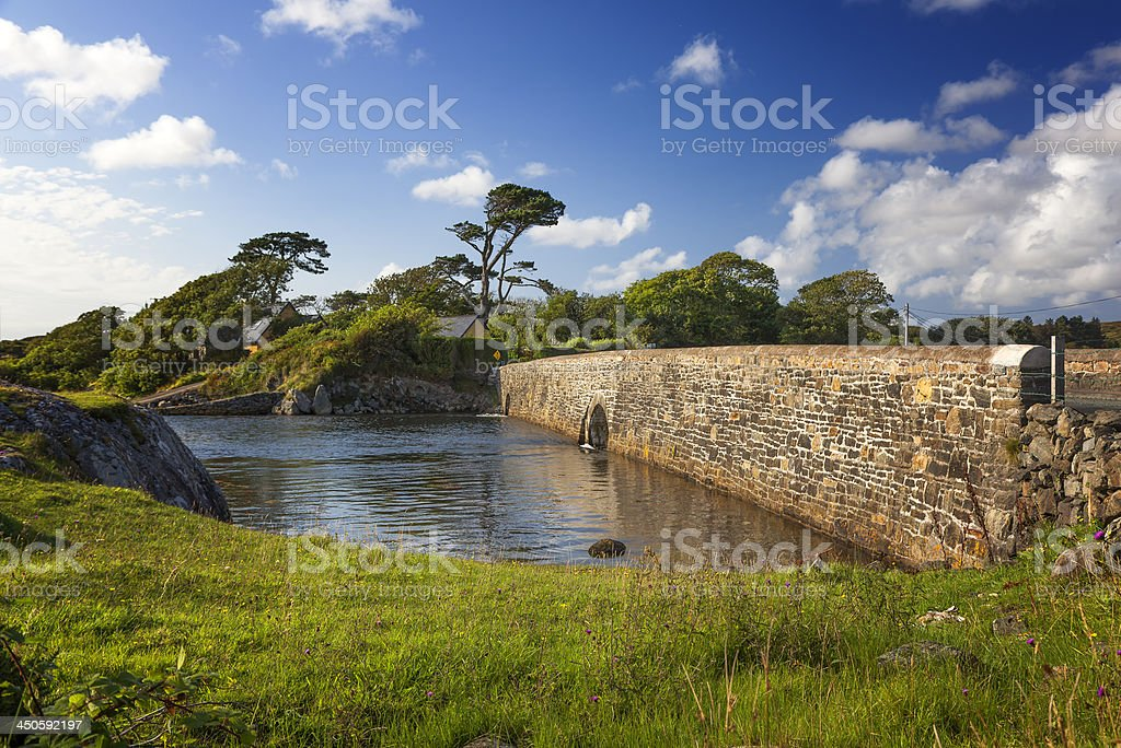 Medieval Bridge  in Ireland stock photo