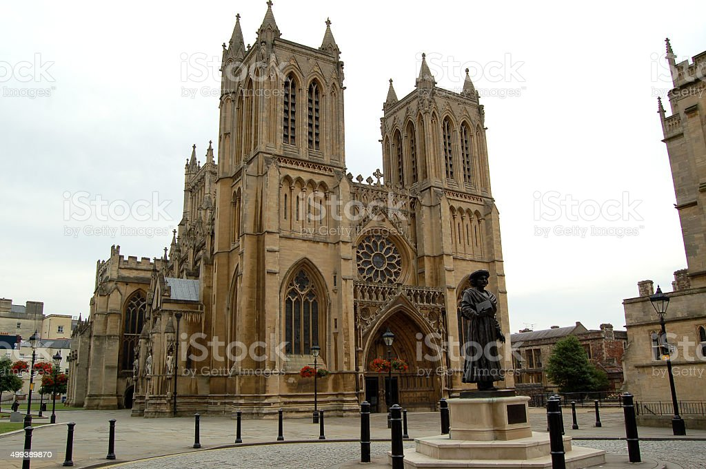 Medieval Bristol Cathedral Building stock photo