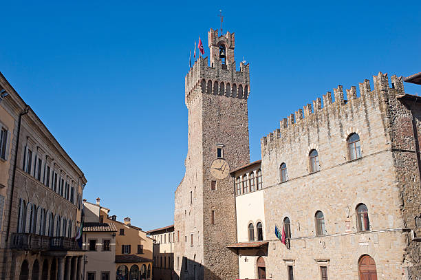 Medieval buildings in Arezzo (Tuscany, Italy) Medieval buildings in Arezzo (Tuscany, Italy) arezzo stock pictures, royalty-free photos & images