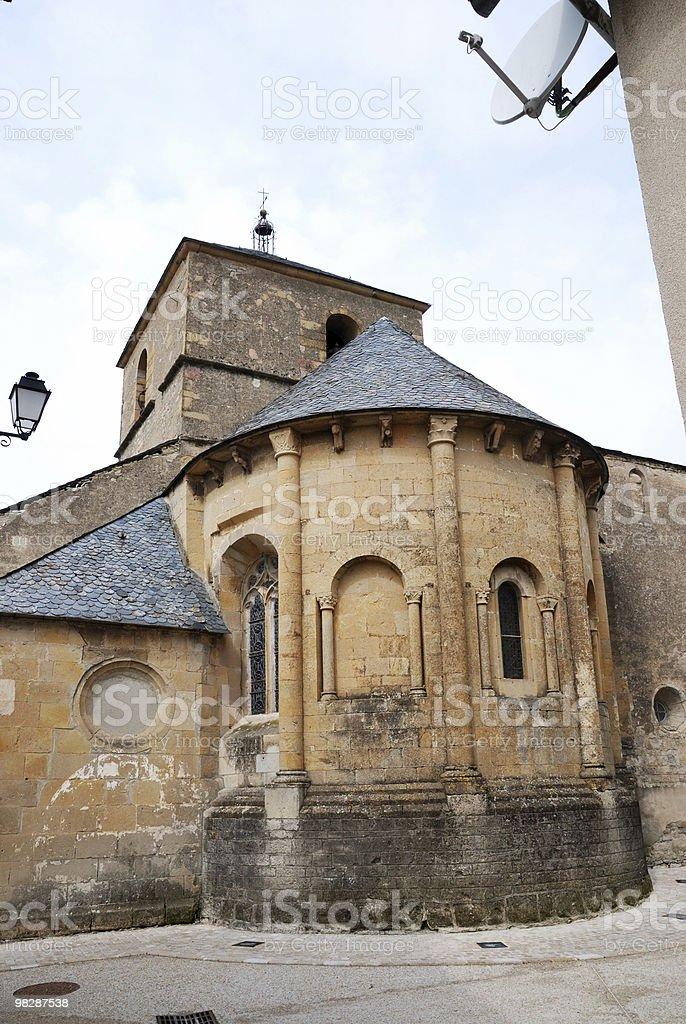 Edifici medievali di città francese foto stock royalty-free