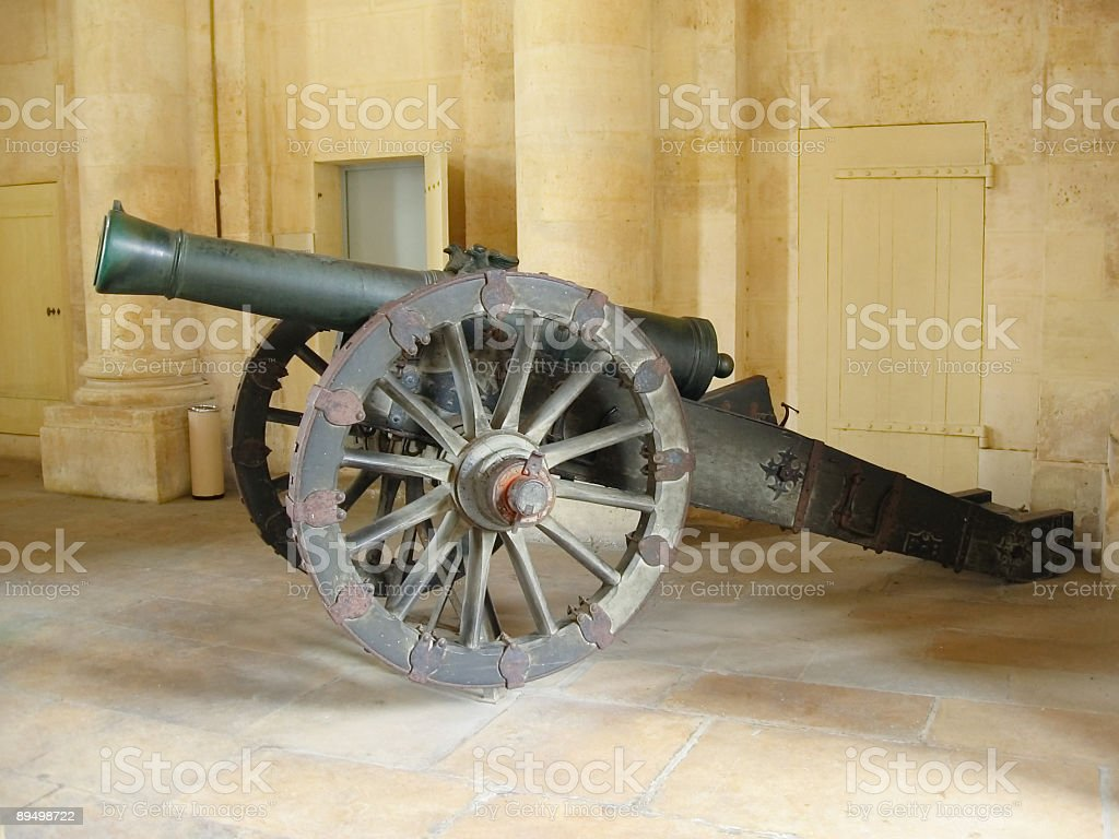 Periodo medievale cannon foto stock royalty-free