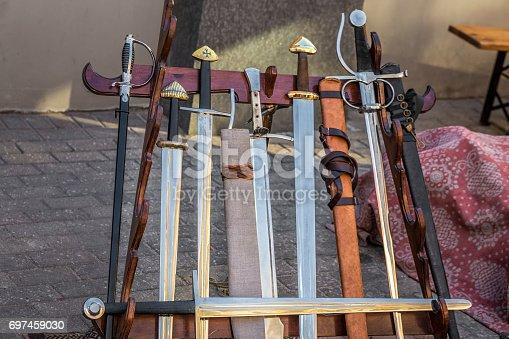 istock Medieval carnival in Riga. 697459030