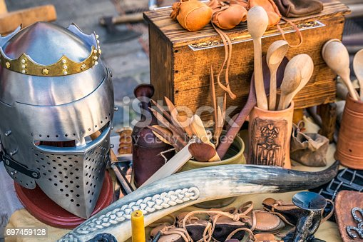 istock Medieval carnival in Riga. 697459128