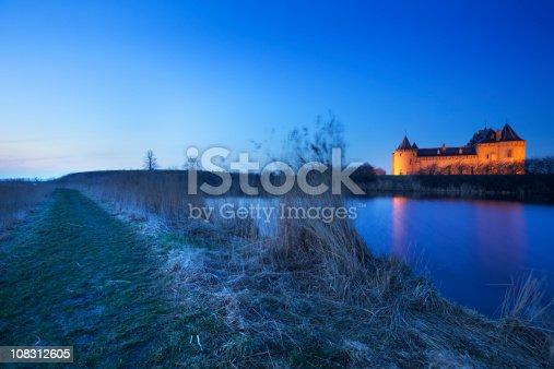 istock Medieval castle at dawn, Muiderslot, Muiden, The Netherlands 108312605