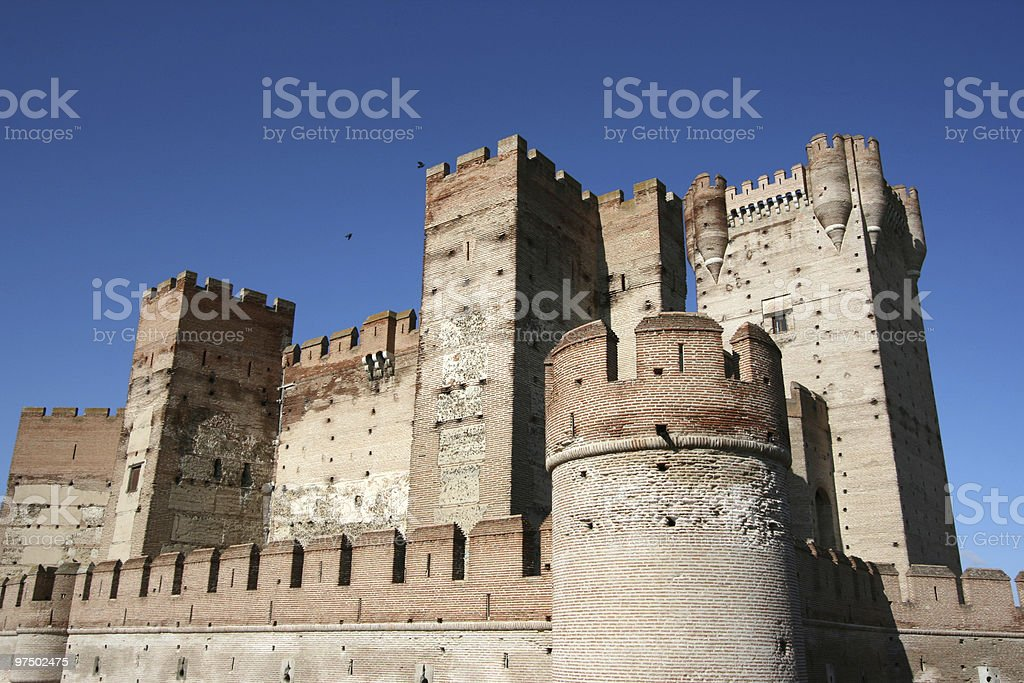 Medieval castle in Spain royalty-free stock photo
