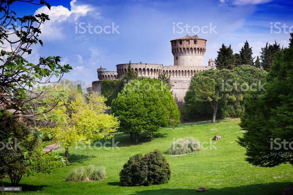 Medieval castle in Tuscany royalty-free stock photo
