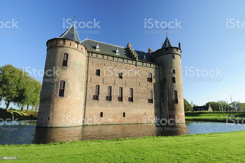 Medieval castle Muiderslot royalty-free stock photo