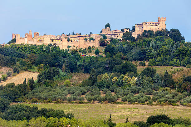 Medieval castle of Gradara in Marches region, Italy stock photo