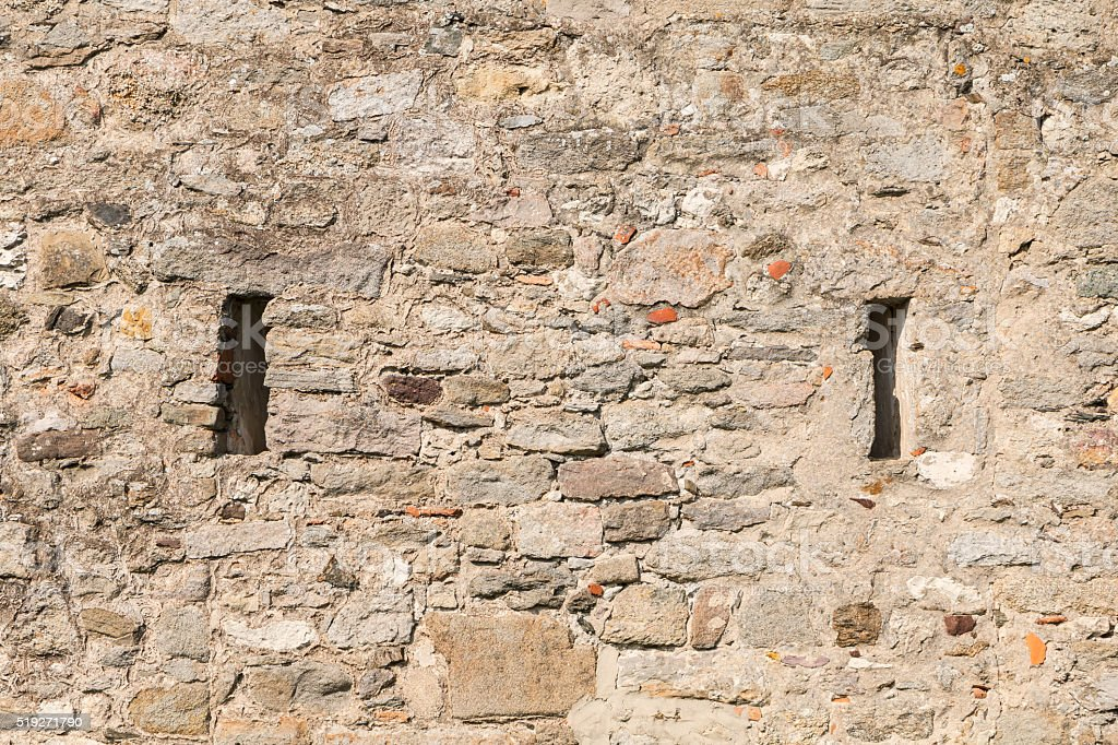 Medieval castle of Noirmoutier in France stock photo