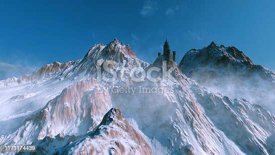 Medieval castle on top of the mountain