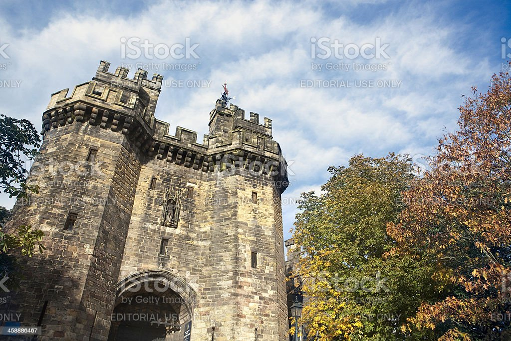 Medieval castle over cloudy beautiful sky‏ royalty-free stock photo