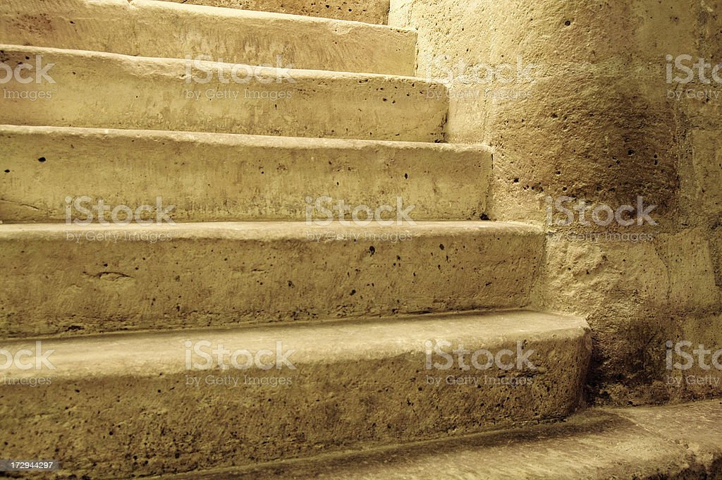 Medieval cellar Stairs royalty-free stock photo