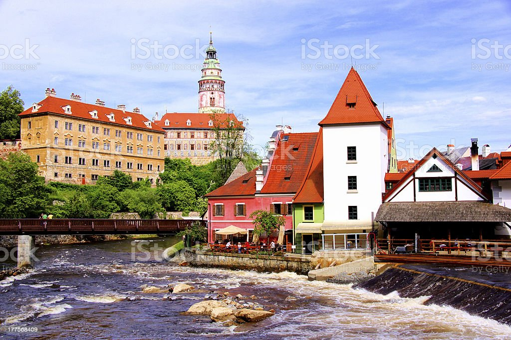 Medieval Cesky Krumlov, Czech Republic royalty-free stock photo