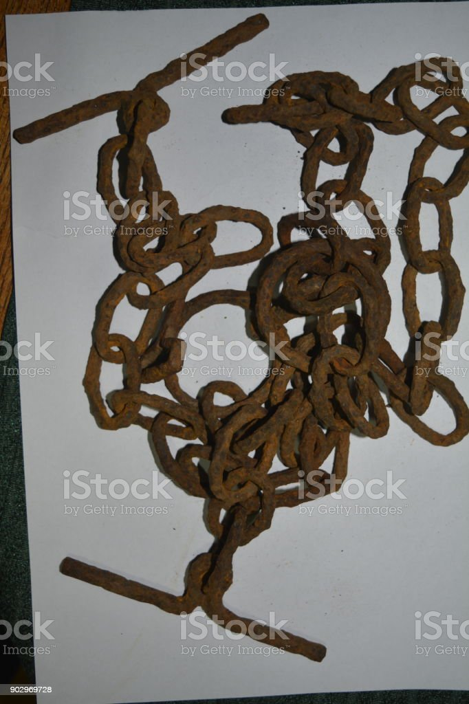 medieval chain stock photo
