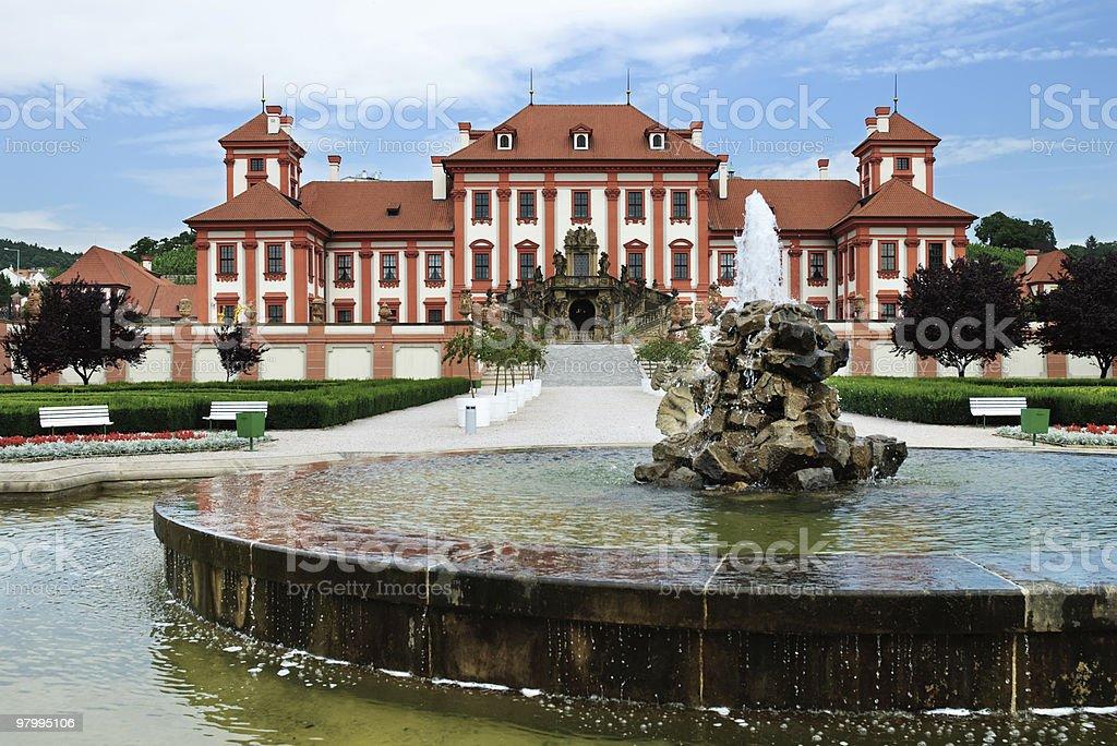 Medieval chateau Troja royalty-free stock photo