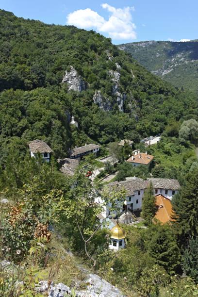 Ortaçağ Çereplik Manastırı, Bulgaristan stok fotoğrafı