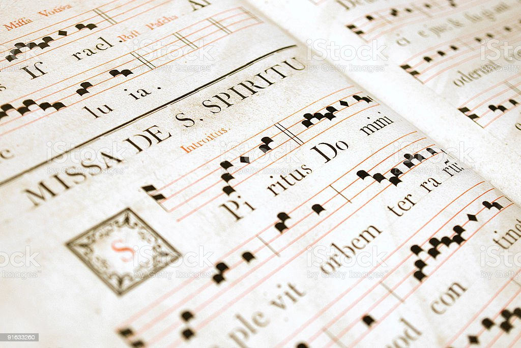 Medieval Chorus Book royalty-free stock photo