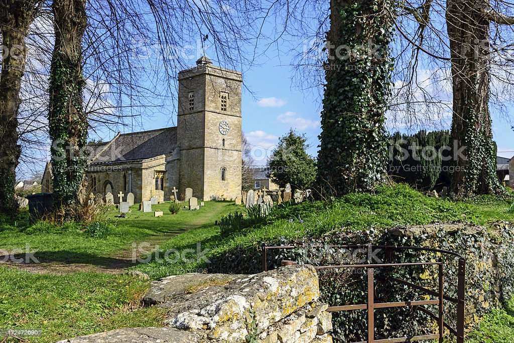 Medieval church in Oxfordshire, England royalty-free stock photo