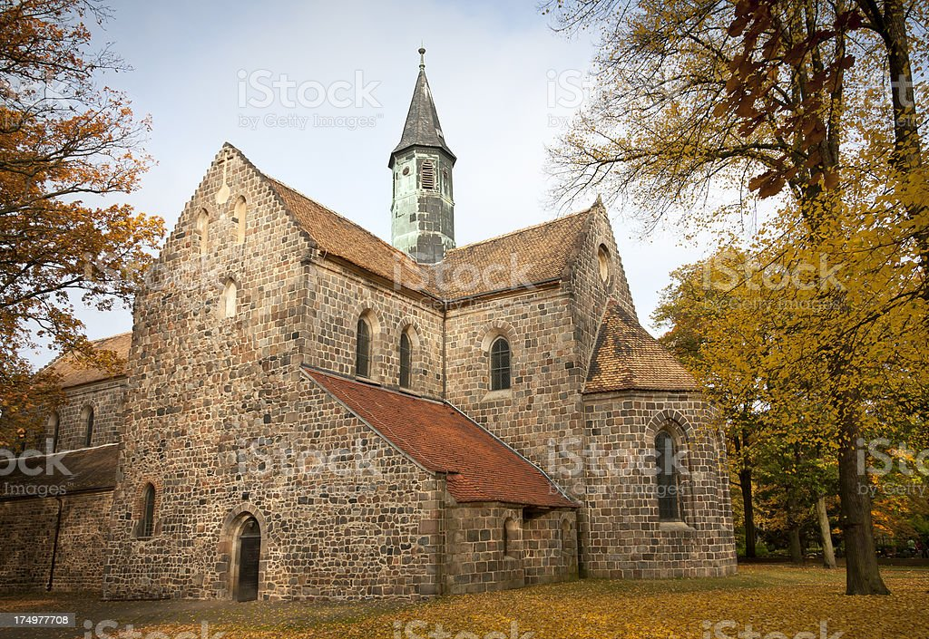 Medieval Church in Zinna, Germany stock photo