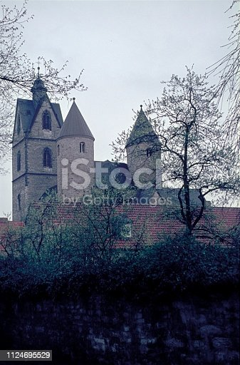 Germany (exact location unfortunately not known), 1969. Medieval church / monastery.