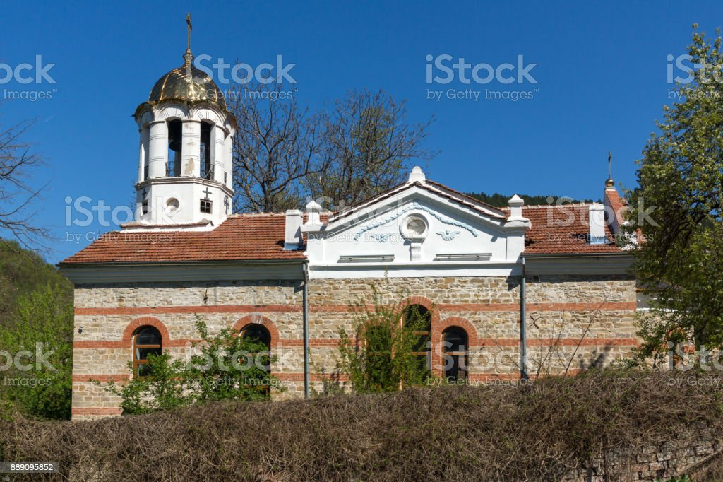 Medieval Church of Assumption of Virgin Mary in city of Veliko Tarnovo, Bulgaria stock photo