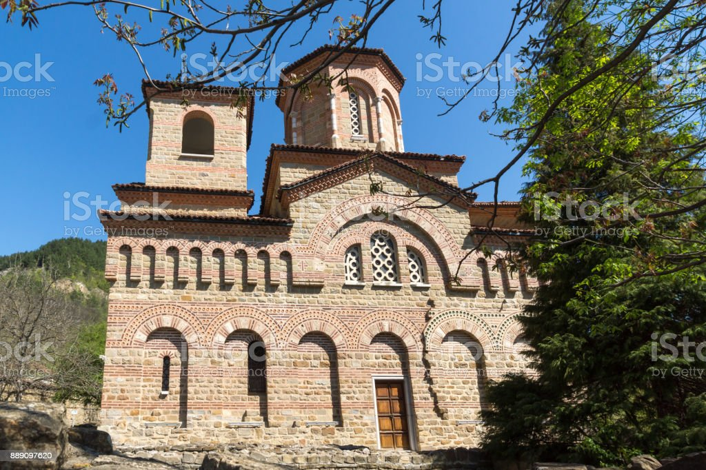 Medieval Church of St. Demetrius of Thessaloniki in city of Veliko Tarnovo, Bulgaria stock photo