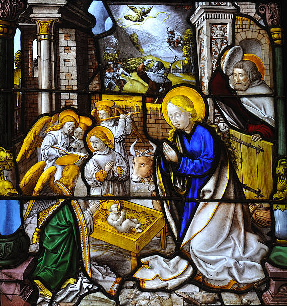 Best Stained Glass Nativity Stock Photos, Pictures ...