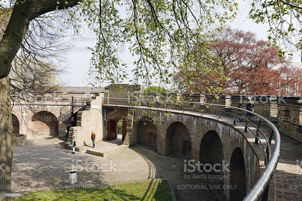 Medieval citadel Burcht in Leiden stock photo