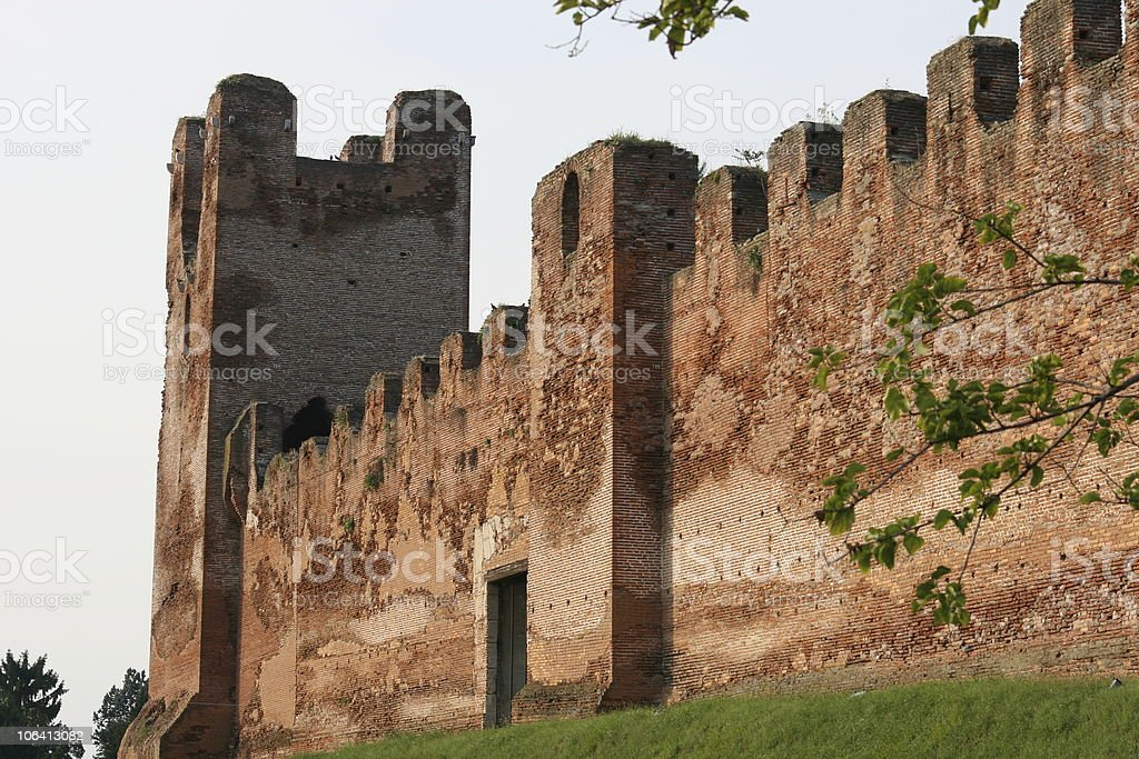 Medieval Citadel in Castelfranco, Italy stock photo
