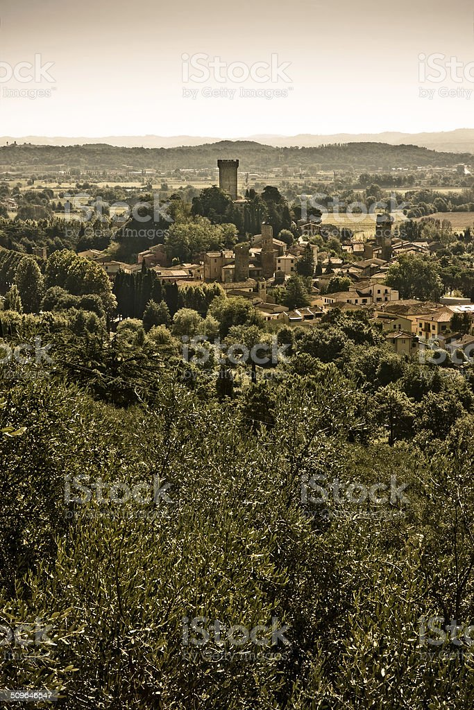 Medieval citadel of Vicopisano stock photo