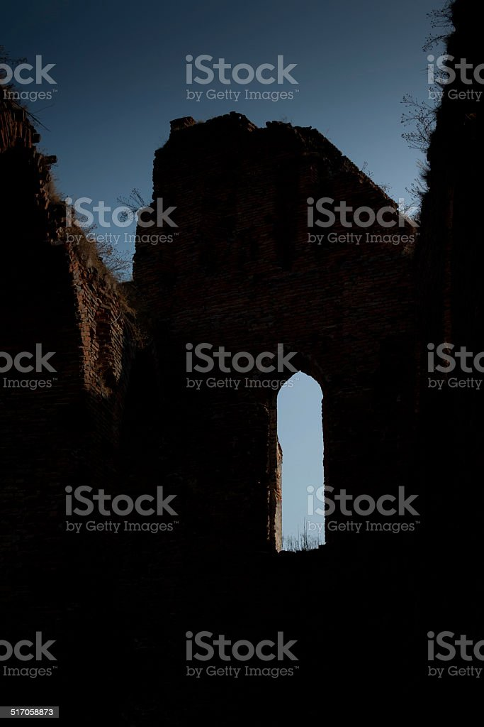 Medieval citadel wall stock photo